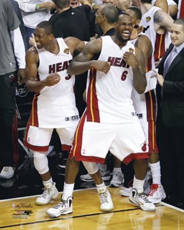 LeBron James & Dwyane Wade Celebration