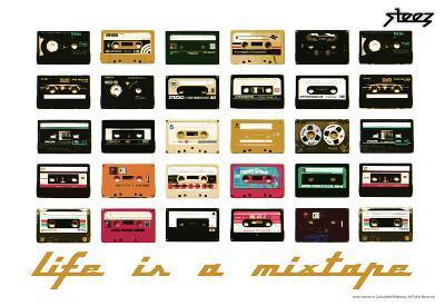 Steez Life Is A Mixtape - Orange Art Print Poster