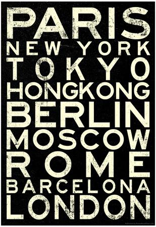 Cities of the World RetroMetro Travel Poster