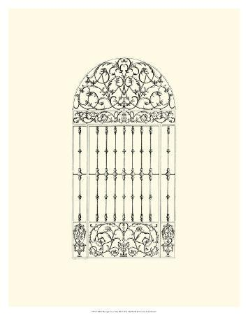 B&W Wrought Iron Gate III