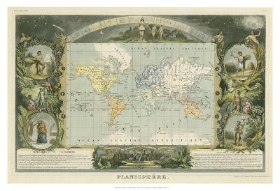 1885 Planisphere of the World