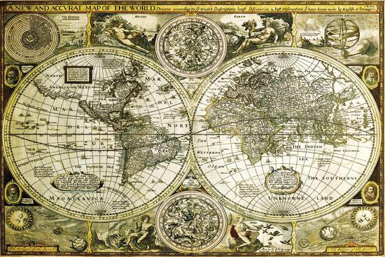 World map historical posters at allposters world map historical gumiabroncs Gallery