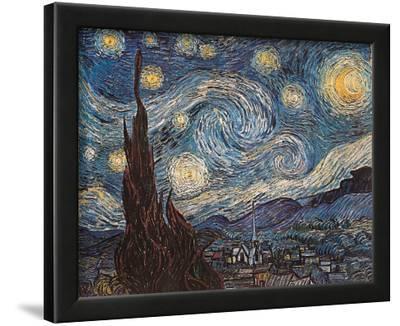 Starry Night, White Border, Text