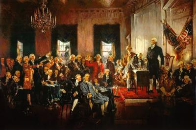 Scene at the Signing of the Constitution