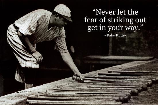 Babe Ruth Quotes Babe Ruth   Striking Out Quote Posters at AllPosters.com Babe Ruth Quotes