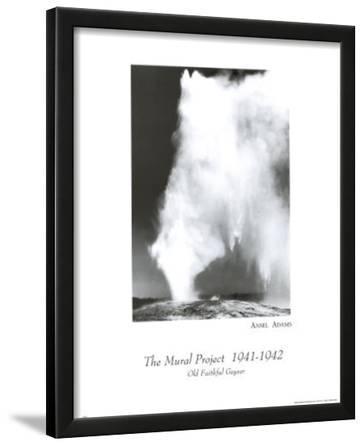 Old Faithful Geyser Ansel Adams Art Print Poster