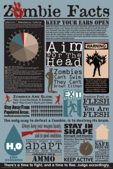 Zombie Facts Poster At Allposters Com