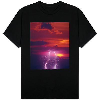 Lightning Storm at Sunset