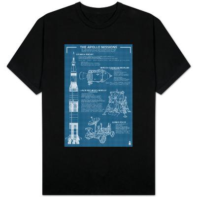 Apollo Missions - Blueprint Poster