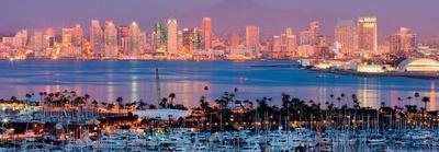 San Diego Skyline at Night and Marina