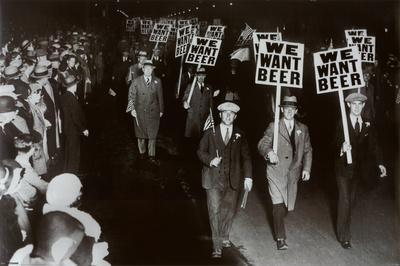 We Want Beer Prohibition Photo Poster