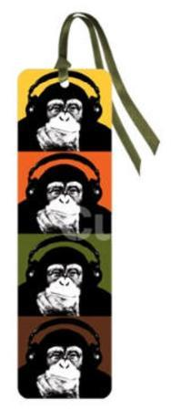 Steez - Headphone Monkey Bookmark