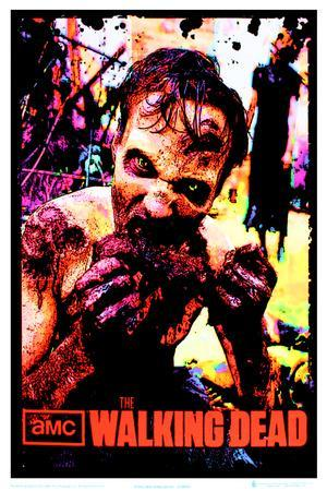 The Walking Dead Zombie TV Blacklight Poster