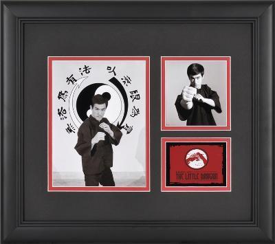 """Bruce Lee """"The Little Dragon"""" framed presentation"""