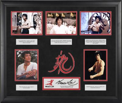 "Bruce Lee ""The Wisdom of Bruce Lee"" limited edition framed presentation with laser-cut logo"