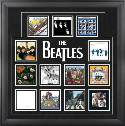"The Beatles ""U.K. Album Covers"" framed presentation"