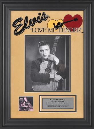 """Elvis Presley """"Love Me Tender"""" framed presentation"""