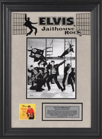 """Elvis Presley """"Jailhouse Rock"""" framed presentation"""