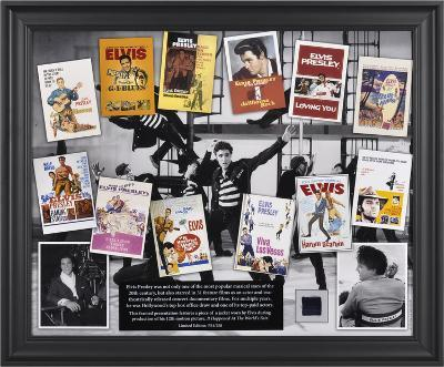 Elvis In Hollywood framed presentation with a piece of a suit jacket worn by Elvis