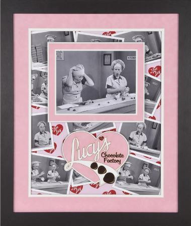 """I Love Lucy """"Chocolate Factory"""" framed presentation"""
