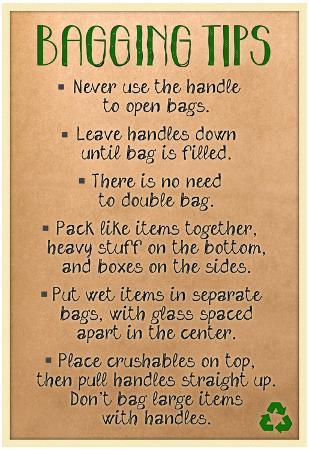 Bagging Tips Sign