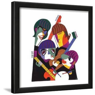 David Cowles Paul John Ringo and George Art Print Poster