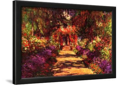 Claude Monet Path in Monet's Garden in Giverny Art Print Poster