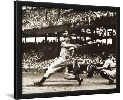 Joe Dimaggio The Swing Sports Poster Print