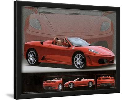 2006 Ferrari 430 Red Car Art Print Poster