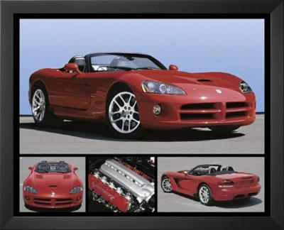 Dodge Viper (Red SRT) Art Poster Print