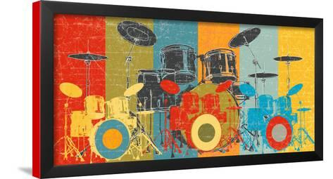 by M.J Lew Art Print Poster Heart Beat Drums