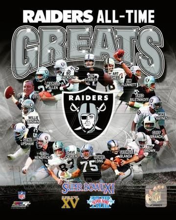 Oakland Raiders All Time Greats Composite Photo At
