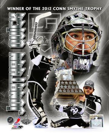 Jonathan Quick 2012 NHL Conn Smythe Trophy Winner Portrait Plus