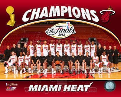 Miami Heat 2012 NBA Champions Team Photo