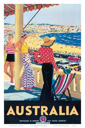 Australia Beach c.1929 Posters by Percy Trompf at ...