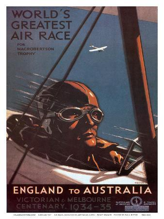 Air Race, England to Australia c.1934