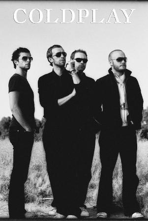 Coldplay - Group Black and White