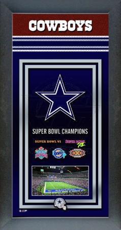 Dallas Cowboys Framed Championship Banner