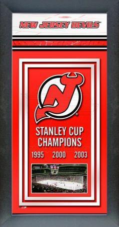 New Jersey Devils Framed Championship Banner