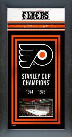 Philadelphia Flyers Framed Championship Banner