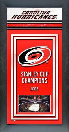 Carolina Hurricanes Framed Championship Banner