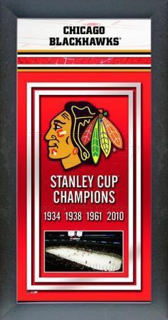 Chicago Blackhawks Framed Championship Banner