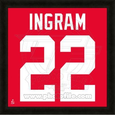 Mark Ingram, University of Alabama Crimson Tide representation of the player's jersey