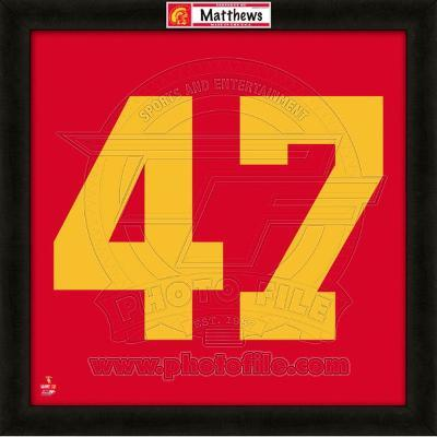 Clay Matthews, USC representation of the player's jersey
