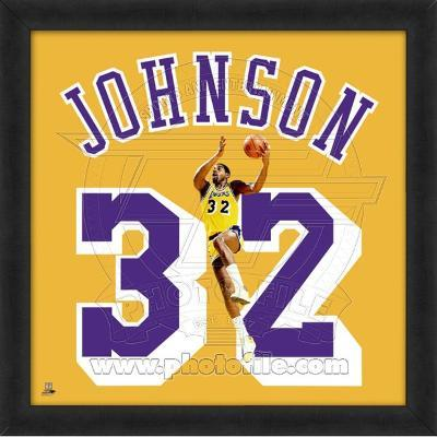 Magic Johnson, Lakers photographic representation of the player's jersey