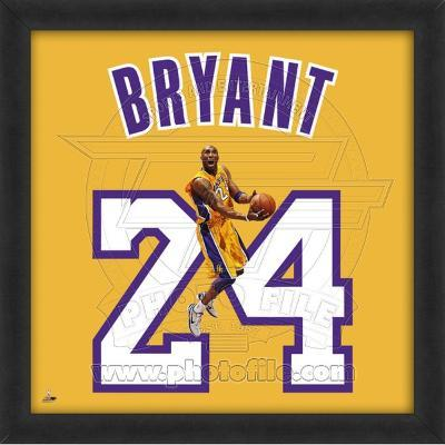 Kobe Bryant, Lakers photographic representation of the player's jersey