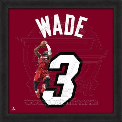 Dwyane Wade, Heat photographic representation of the player's jersey
