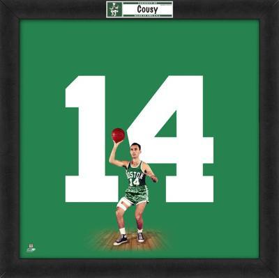 Bob Cousy, Celtics  Representation of the player's jersey