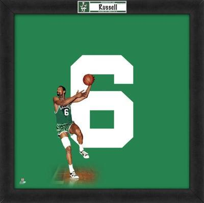 Bill Russell, Celtics  Representation of the player's jersey
