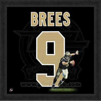 Drew Brees, Saints photographic representation of the player's jersey
